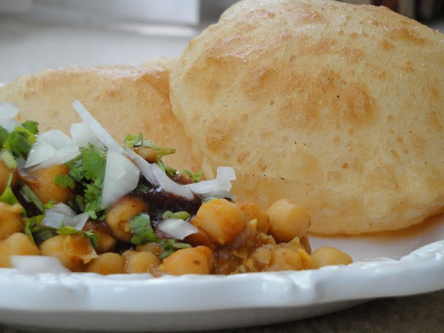 Chana curry with Bhatura